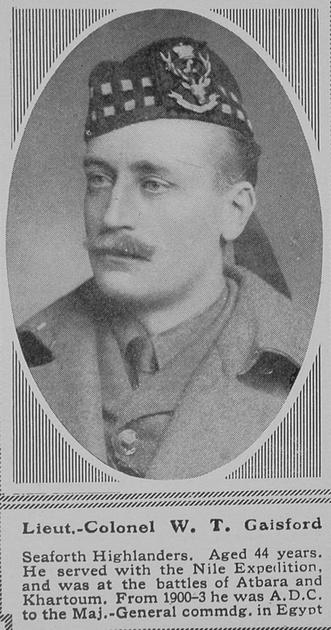 UK Photo Archive: G &emdash; Gaisford W T Lt Col Seaforth Highlanders The Sphere 6th Nov 1915