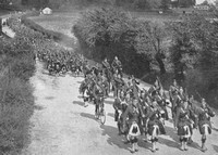 The Gordon Highlanders On The March