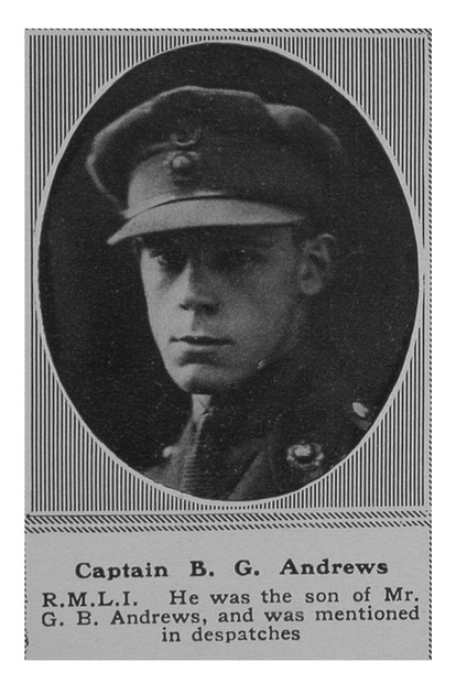 UK Photo Archive: A &emdash; Andrews B G Captain RMLI The Sphere 21st Sep 1918