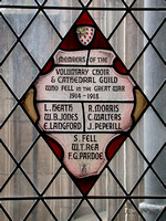 Langford E L/Cpl 2nd Worcestershire Regt Memorial Window Worcester Cathedral