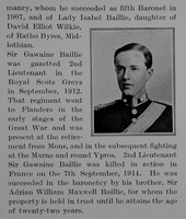 Baillie G G S 2nd Lt 2nd Dragoons Royal Scots Greys Obit Part 2 he Bond Of Sacrifice Vol 1