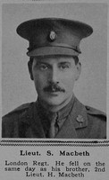 MacBeth S Lt 18th London Regiment (London Irish Rifles) The Sphere 27th Jan 1917
