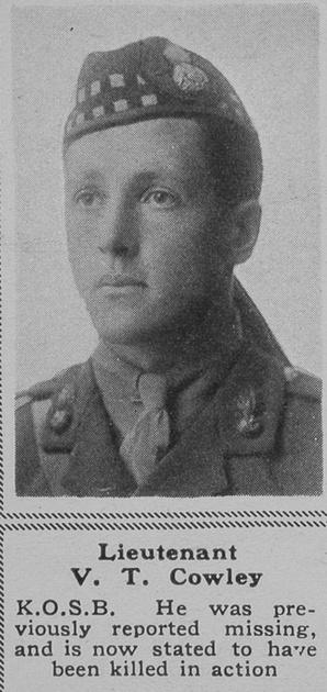 UK Photo Archive: C &emdash; Cowley V Lt 8th KOSB The Sphere 28th Sep 1918