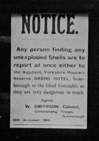 A Military Notice Posted At Scarborough