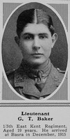 Baker G T Lt 5th East Kent Regt The Sphere 19th Feb 1916