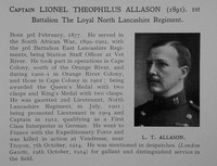 Allason L T Captain 1st Loyal North Lancs Regiment Obit Dulwich College Roll Of Honour