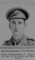 Olivier J G 2nd Lt 3rd Attd 7th Duke of Cornwall's Light Infantry The Sphere 9th Dec 1916