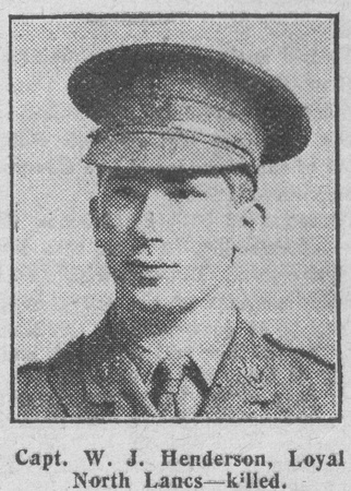 UK Photo And Social History Archive: The Graphic H &emdash; Henderson W J Captain MC 9th Loyal North Lancs Regiment The Graphic 22nd July 1916