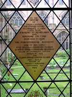 Clarke W H 2nd Lt 3rd Worcestershire Regiment Memorial Window Worcester Cathedral