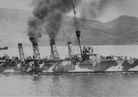 A Cruiser Off To The Aid Of British Transport Ship In The Dardanelles