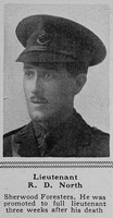 North R D Lt 2nd Attd 14th Sherwood Foresters (Notts and Derby Regiment) The Sphere 5th Aug 1916
