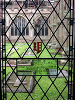 Bennett E P Captain VC MC 2nd Worcs Regt Memorial Window Worcester Cathedral Photo No 1