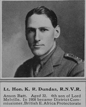 UK Photo Archive: D &emdash; Dundas K R Lt The Hon Anson Btn RN Div RNVR The Sphere 28th Aug 1915
