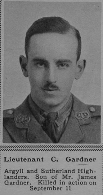 UK Photo Archive: G &emdash; Gardner C Lt 6th Argyll and Sutherland Highlanders The Sphere 25th Nov 1916