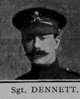 Dennett Sergt 6th London Regiment Cast Iron Sixth - Captain E G Godfrey 1938