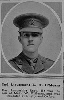 O'Meara L A 2nd Lt 3rd Attd 6th East Lancashire Regiment The Sphere 24th Mar 1917