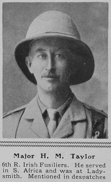 UK Photo Archive: T &emdash; Taylor H M Major 6th R Irish Fusiliers The Sphere 25th Sep 1915