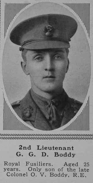 UK Photo Archive: B &emdash; Boddy G G D 2nd Lt 4th London Regt The Sphere 6th May 1916