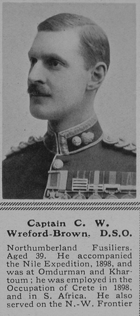 UK Photo Archive: W &emdash; Wreford-Brown C W Captain DSO Northumberland Fusiliers The Sphere 31st Jul 1915