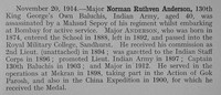 Anderson N R Major Indian Army Obit Shrewsbury School Roll Of Service