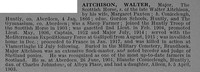 Aitchison W Major Scottish Horse Obit De Ruvignys Roll Of Honour Vol 4
