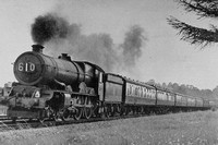 No 6002 King William IV Near Bruton With The Perranporth To Brighton 1950s