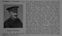 Warren W Sergt 294 28th London Regiment Obit De Ruvignys Roll Of Honour Vol 1