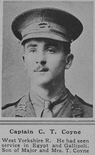 UK Photo Archive: C &emdash; Coyne C T Captain West Yorks Regt The Sphere 13th Oct 1917