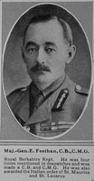 Feethan E Maj Gen CB CMG R Berks Regt The Sphere 18th May 1918