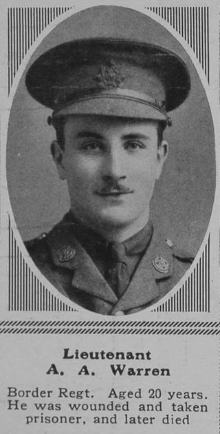 UK Photo Archive: W &emdash; Warren A A Lt 8th Border Regt The Sphere 29th Apr 1916