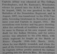 Abbay M J N Captain Indian Army Obit Part 2 The Bond Of Sacrifice Vol 2