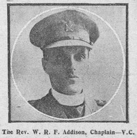 Addison W R F Rev VC Army Chaplain The Graphic 27th Sep 1916