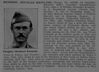Kennedy D M Pte 106330 1st Canadian Mounted Rifles Obit De Ruvignys Roll Of Honour Vol 5