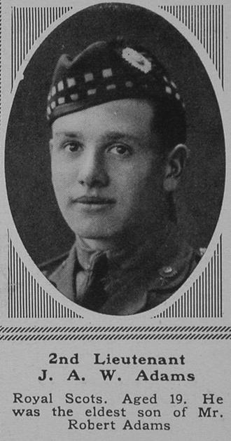 UK Photo Archive: A &emdash; Adams J A W 2nd Lt 9th Royal Scots The Sphere 23rd June 1917