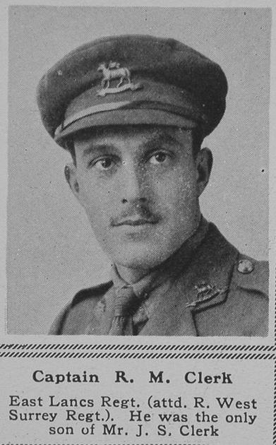 UK Photo Archive: C &emdash; Clerk R M Captain 6th R West Surrey Regt The Sphere 2nd Jun 1917