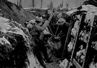 British Soldiers Making A Dug Out Jan 1918