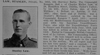 Law S Pte 5th Connaught Rangers Obit De Ruvignys Roll Of Honour Vol 5