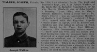 Walker J Pte 1218 14th York & Lancaster Regiment Obit De Ruvignys Roll Of Honour Vol 3