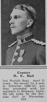 Hall H E Captain 2nd Norfolk Regt The Sphere 1st Jan 1916