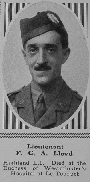UK Photo Archive: L &emdash; Lloyd F C A Lt 2nd HLI The Sphere 15th Jan 1916