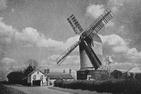 Post Mill Barley Green Stradbroke Suffolk 1930s