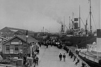 Liverpool Landing Stage RMS Ionian And SS Canopic c.1900