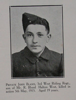 Bland J Pte 2nd West Riding Regt Craven Roll Of Honour