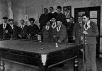 Soldiers From The Newfoundland Regiment Playing Billiards In TheThird London General Hospital Wandsworth