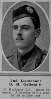 Galbraith D B 2nd Lt 7th HLI The Sphere 25th Sep 1915
