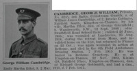 Cambridge G W Pte 6235 3rd Coldstream Guards Obituary De Ruvignys Roll Of Honour Vol 1