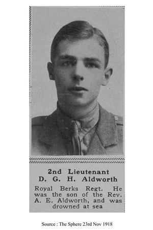 UK Photo Archive: A &emdash; Aldworth D G H 2nd Lt 3rd Royal Berkshire Regiment