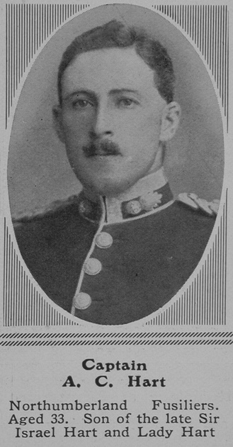UK Photo Archive: H &emdash; Hart A C Captain Northumberland Fusiliers The Sphere 12th Jun 1915