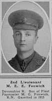Fenwick M E E 2nd Lt 8th Devon Regt The Sphere 19th May 1917
