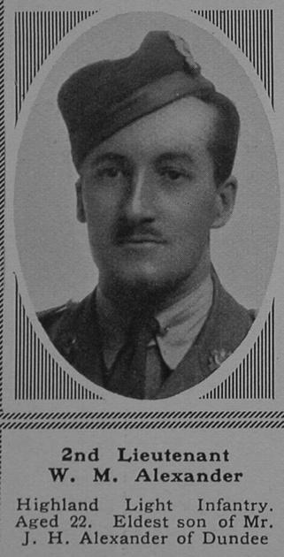 UK Photo Archive: A &emdash; Alexander W M 2nd Lt 17th Highland Light Infantry The Sphere 23rd Sep 1916
